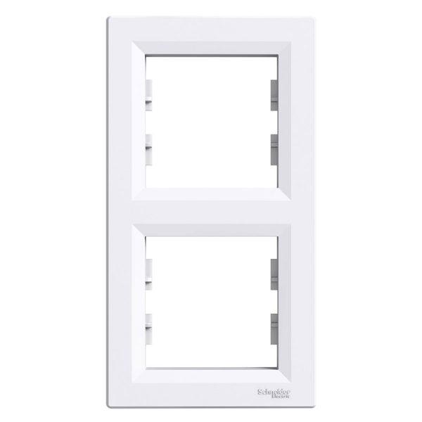 Рамка ASFORA 2-а вертикальна біла