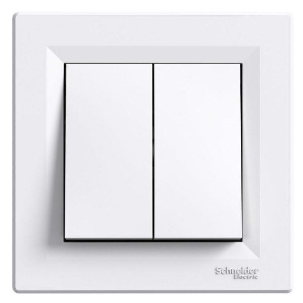 Кнопка 2-на самозаж. біла ASFORA