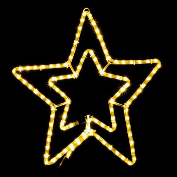 Гірл.зовн. DELUX MOTIF Star 58см жовтий IP44