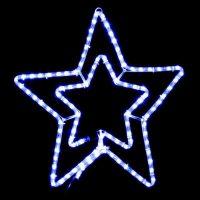 Гірл.зовн. DELUX MOTIF Star 58см синій IP44