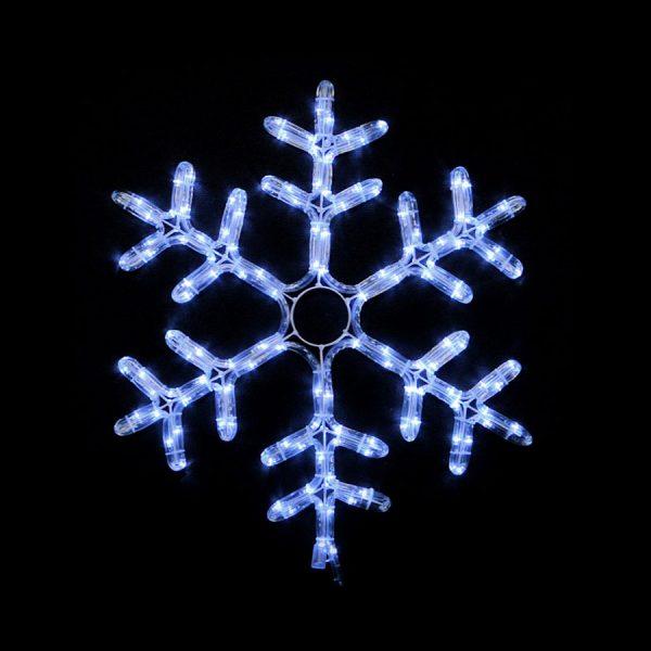 Гірл.зовн. DELUX_MOTIF Snowflake 55см білий IP44 NEW