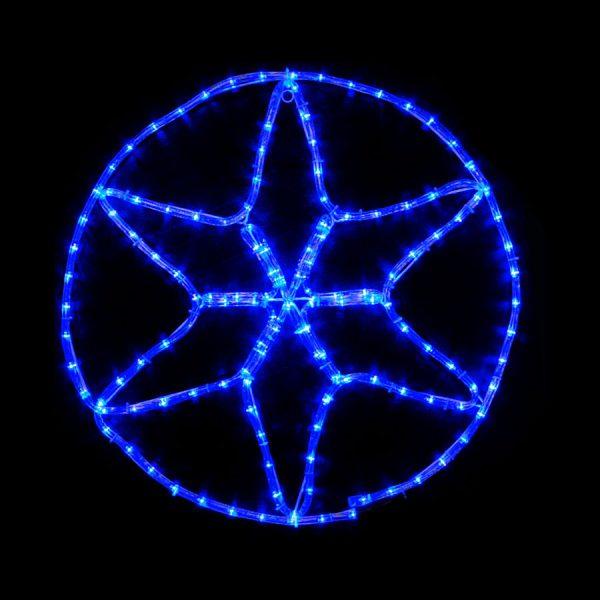 Гірл.зовн.MOTIF Star 60*60см 13Flash синій IP44 Delux NEW