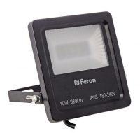 Прожектор LED 10W 20Led 6400K 230V IP65 чорний LL-610
