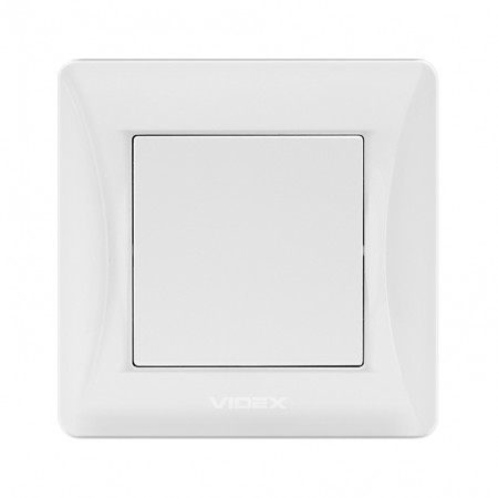 Вимикач білий 1кл (VF-BNSW1-W) (20/120)