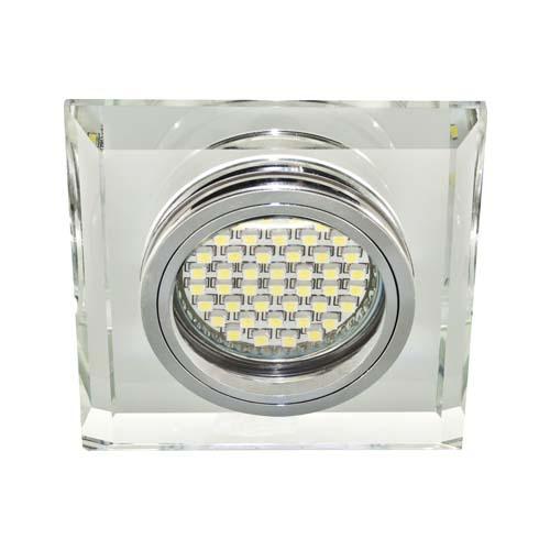 Св-к.точк.Ферон 8170-2 MR-16 срібло+LED підсвітка(6500К)