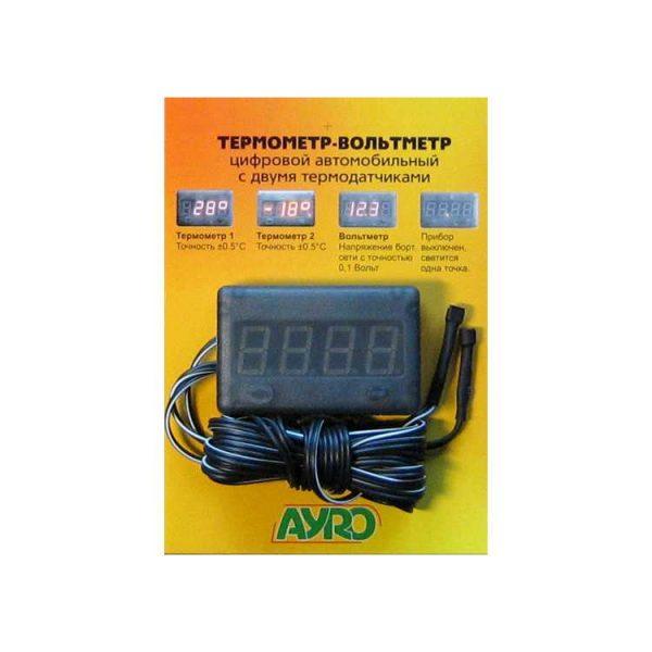 Термометр-Вольтметр два датчика!