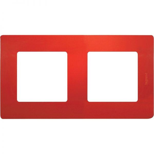 Рамка 2-постова Червоний Етіка