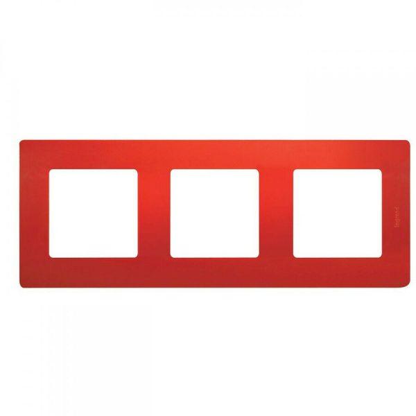 Рамка 3-постова Червоний Етіка