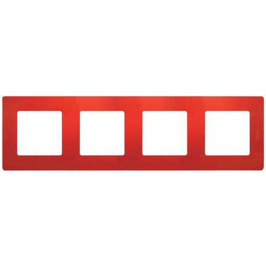 Рамка 4-постова Червоний Етіка
