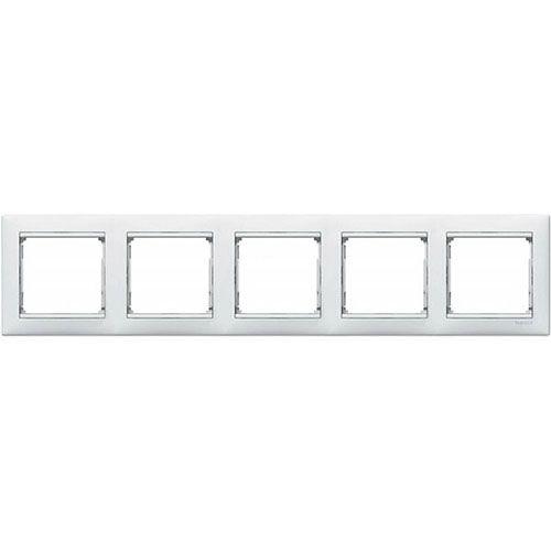 Рамка 5-на горизонт. білий Валена