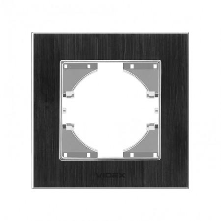 Рамка чорний алюміній 1-а горизонтальна (VF-BNFRA1H-B) (13/156)