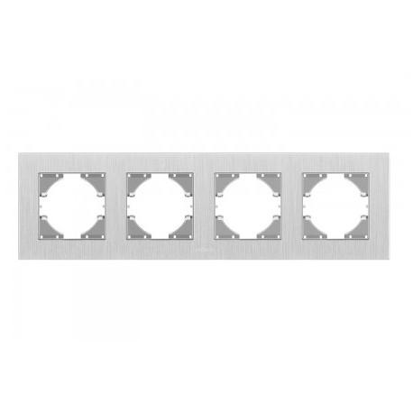 Рамка срібний алюміній 4-а горизонтальна (VF-BNFRA4H-SL)