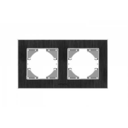 Рамка чорний алюміній 2-а горизонтальна (VF-BNFRA2H-B) (13/156)
