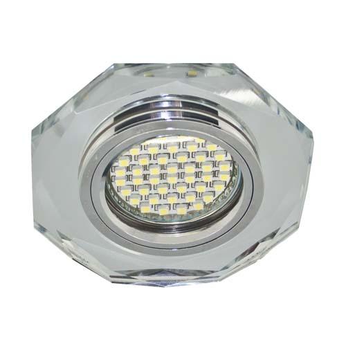 Св-к.точк.Ферон 8020-2 LED підсв.срібло/срібло MR16 50W