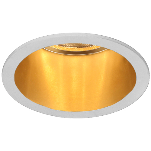 Св-к точк.DL6003 MR16/G5.3/алюміній,білий+золото(внутр.)