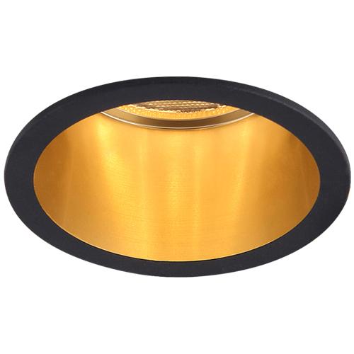 Св-к точк.DL6003 MR16/G5.3/алюміній,чорний+золото(внутр.)