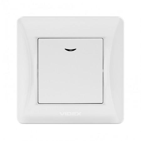 Вимикач білий 1кл з підсв. (VF-BNSW1L-W) (20/120)