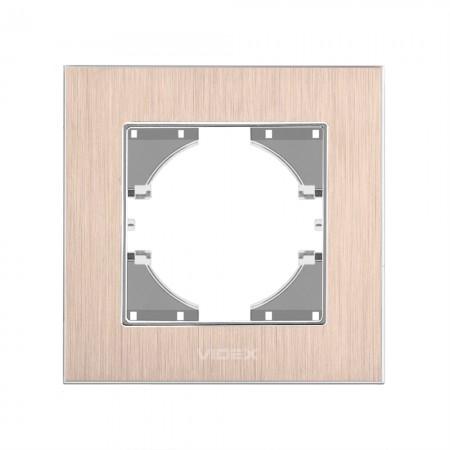 Рамка мідний алюміній 1-а горизонтальна (VF-BNFRA1H-CP)