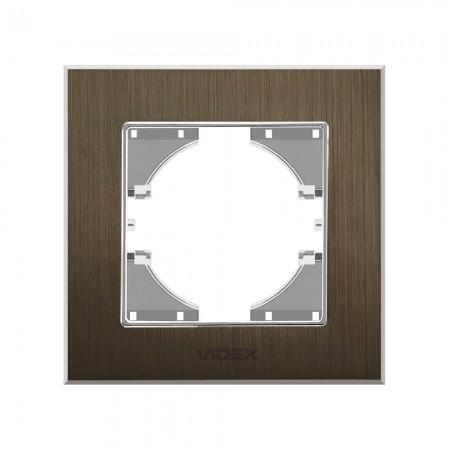 Рамка шокол. алюміній 1-а горизонтальна (VF-BNFRA1H-CH)