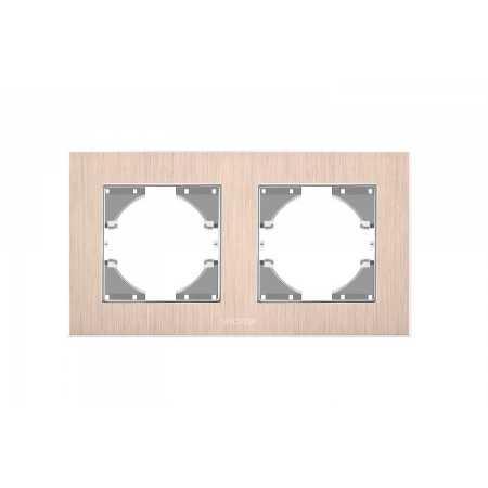 Рамка мідний алюміній 2-а горизонтальна (VF-BNFRA2H-CP)