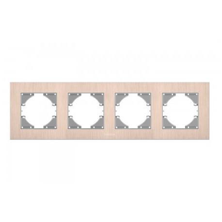 Рамка мідний алюміній 4-а горизонтальна (VF-BNFRA4H-CP)