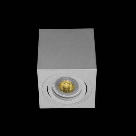 Св-к точк.накл.квадрат MR16 GU5.3  QXL106B-2- S WT