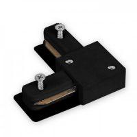 Конектор шини кутовий чорний посил. LD1101