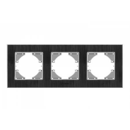 Рамка чорний алюміній 3-а горизонтальна (VF-BNFRA3H-B) (13/104)