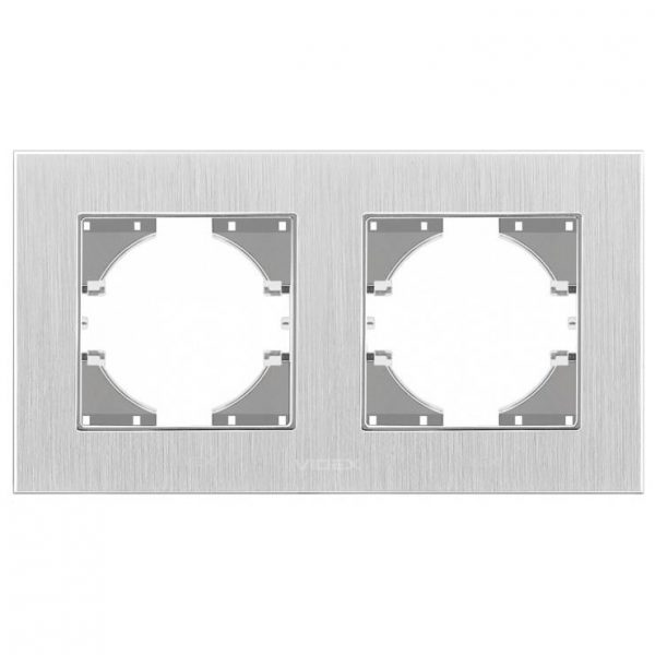 Рамка срібний алюміній 2-а горизонтальна (VF-BNFRA2H-SL)