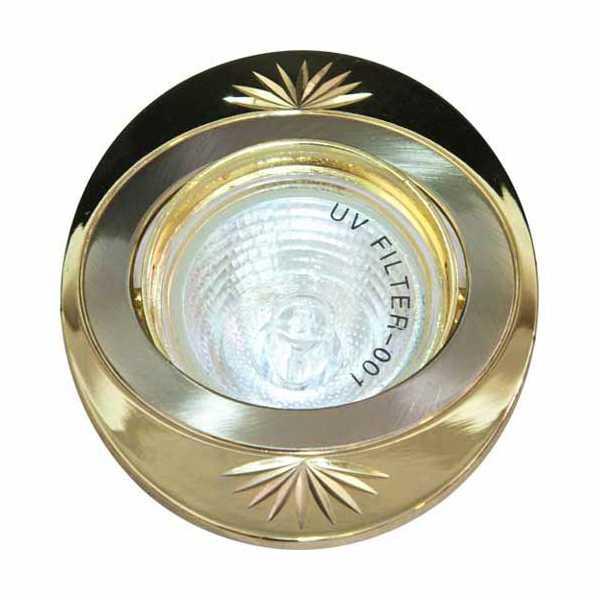 Св-к.точк.Ферон 250DL титан-золото MR16