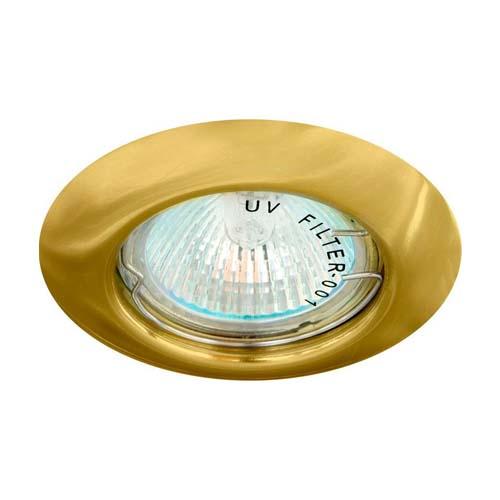 Св-к.точк.Ферон DL13 MR-16 золото н/поворотн.кругл.