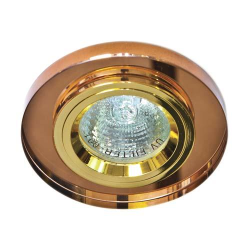 Св-к.точк.Ферон 8060-2/(CD3004) коричневий-золото MR16 50W_BR/GD