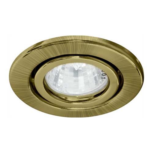 Св-к.точк.Ферон DL11 античне золото MR-16 поворот.