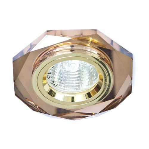 Св-к.точк.Ферон 8020-2/(CD3003) коричневий-золото MR16 50W_BR/GD