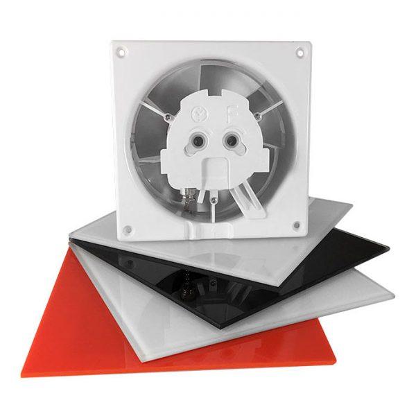 Вентилятор airRoxy dRim 100 TS BB (01-062) з таймером.