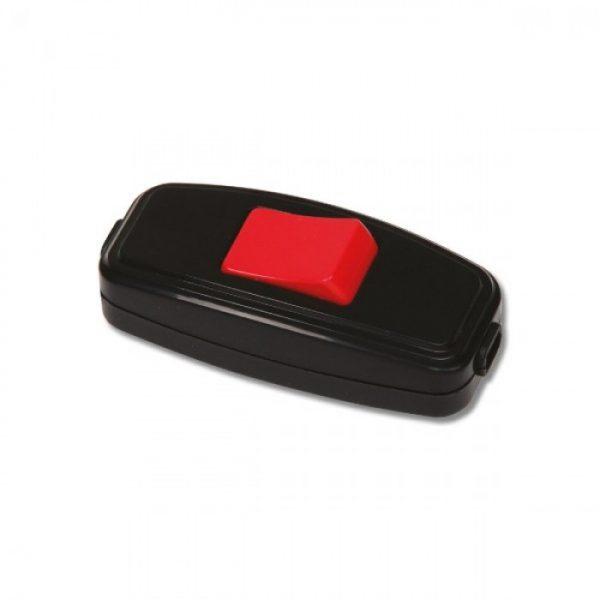 Вимикач Horoz навісний (чорний-червоний) 6А 250В
