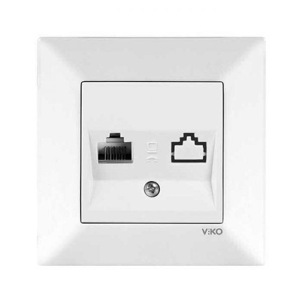 Meridian Розетка компютерна біла