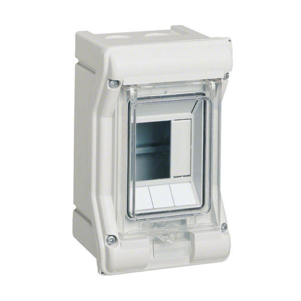 Щит на 3 мод. з/у з прозор. двер. IP65 Vector