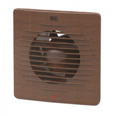 Вентилятор побут. 12W 100мм Горіх з решіткою TM Horoz 158x158mm