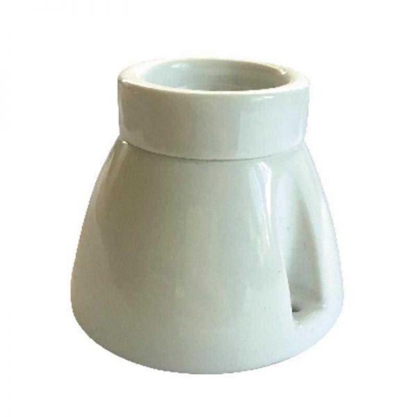 Патрон декор. керам. біл. Арт.HF-073-1