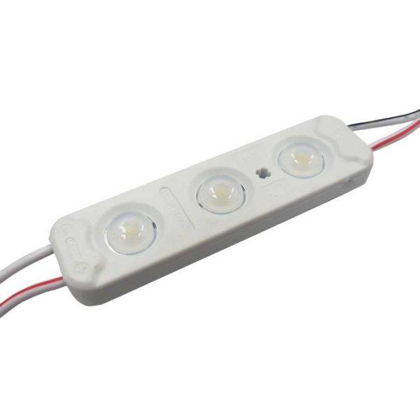 LED-модуль M9D3TB лінза 3LED 1,62Вт 12V 2835led IP65 7000K