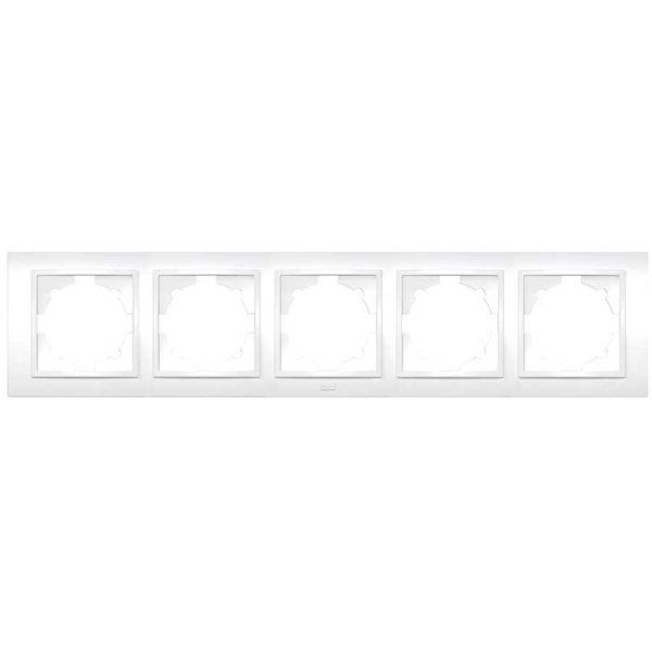 Рамка ZENA біла 5-а універсальна