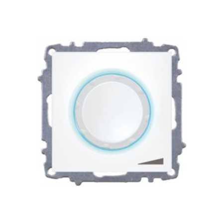 Вимикач ZENA реостат з підсвіткою 800Вт білий (без рамки)