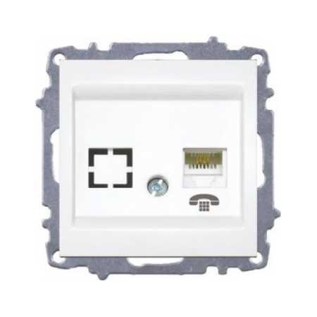 Розетка ZENA біла телефонна (без рамки)