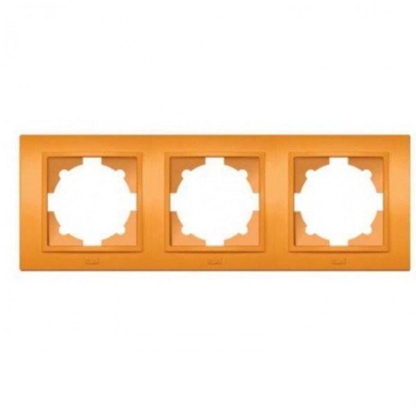 "Рамка ZENA ""оранжева"" 3-а  (мат) універсальна"