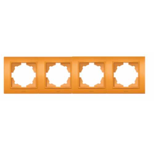 "Рамка ZENA ""оранжева"" 4-а  (мат) універсальна"