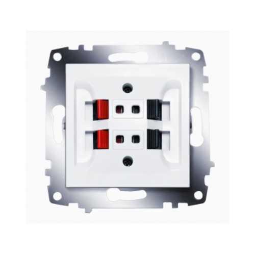 Розетка ZENA біла 2-а АУДІО (під акустичні системи)