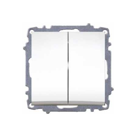 Вимикач ZENA білий прохідний 2-й (без рамки)