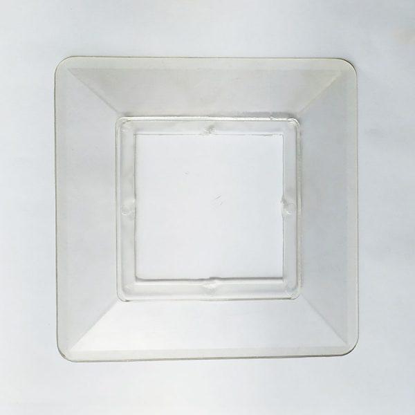 Накладка під вимикач/розетку прозора 2 гатунок
