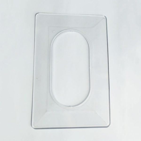 Накладка під вимикач 140х210мм/прозора
